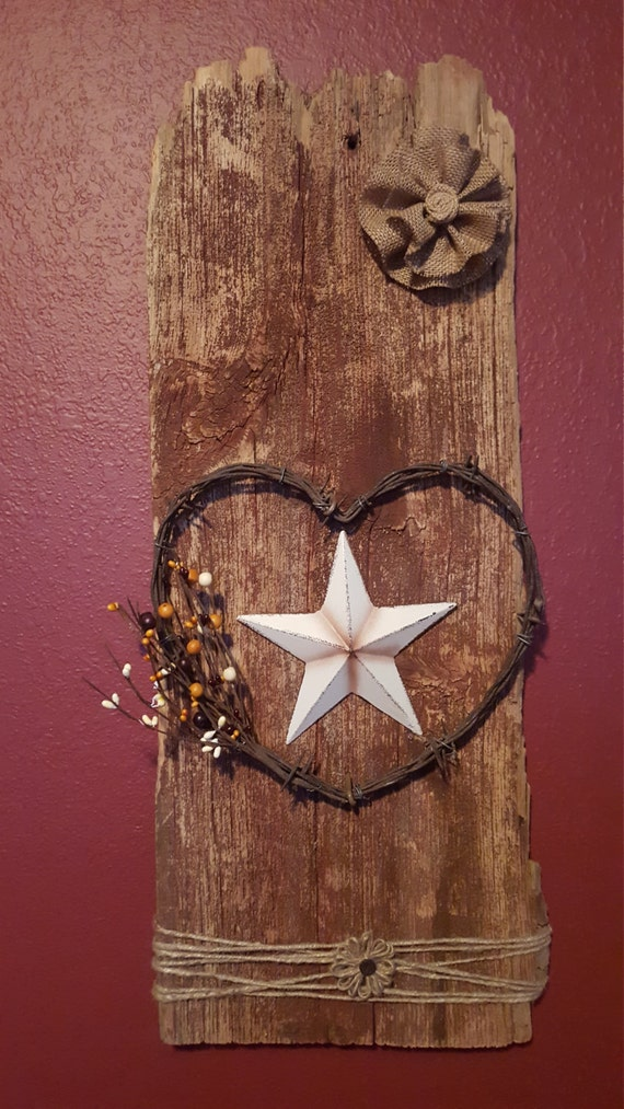Barn board wall decor