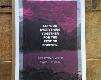 Let's Do Everything Together - Uncommon Love Card