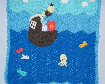 handmade Noah's ark blanket
