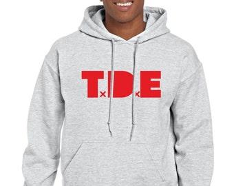 TDE DreamVille Hoodie Hooded Sweatshirt Pullover Hood Black Sweater Rap Hip Hop