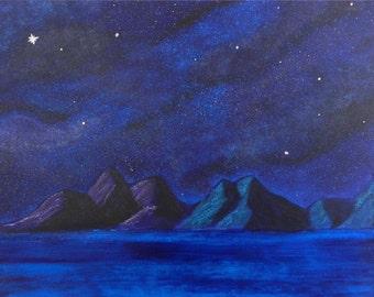 Galaxy Mountains 8x10 PHOTO Print