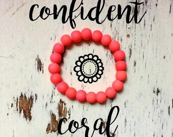 Inner-Beauty Bracelet - Confident Coral