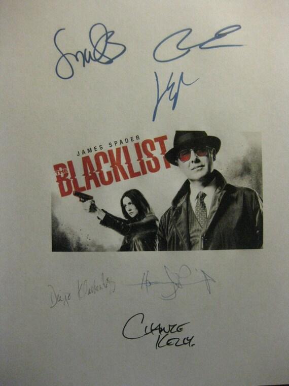 Blacklist Signed TV Screenplay script X6 Autograph James Spader Megan Boone Diego Klattenhoff Ryan Eggold Harry Lennix Chance Kelly