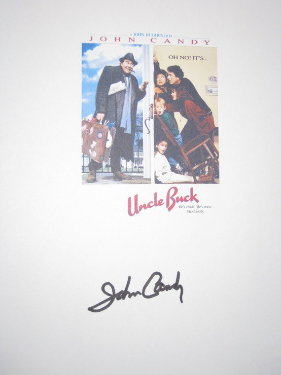 Uncle Buck Signed Movie Film Script Screenplay Autograph Signature John Candy classic comdey film