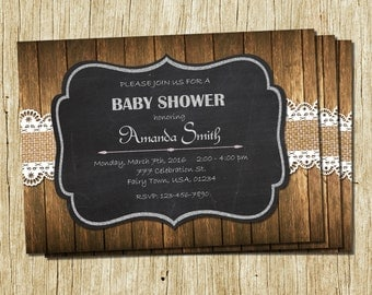 Western Baby Shower Invitations Etsy, Baby Shower Invitations