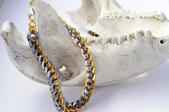 dragon tail bracelet chain maille bracelet square wire
