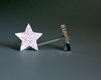 Silver Shimmer Star Earrings, Silver stars, shimmery earrings, tiny earrings, tiny stars, dainty earrings, gift ideas, birthday gift