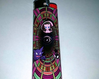 Pokemon Mew, Haunter, and Gastly Psychic Custom Lighter