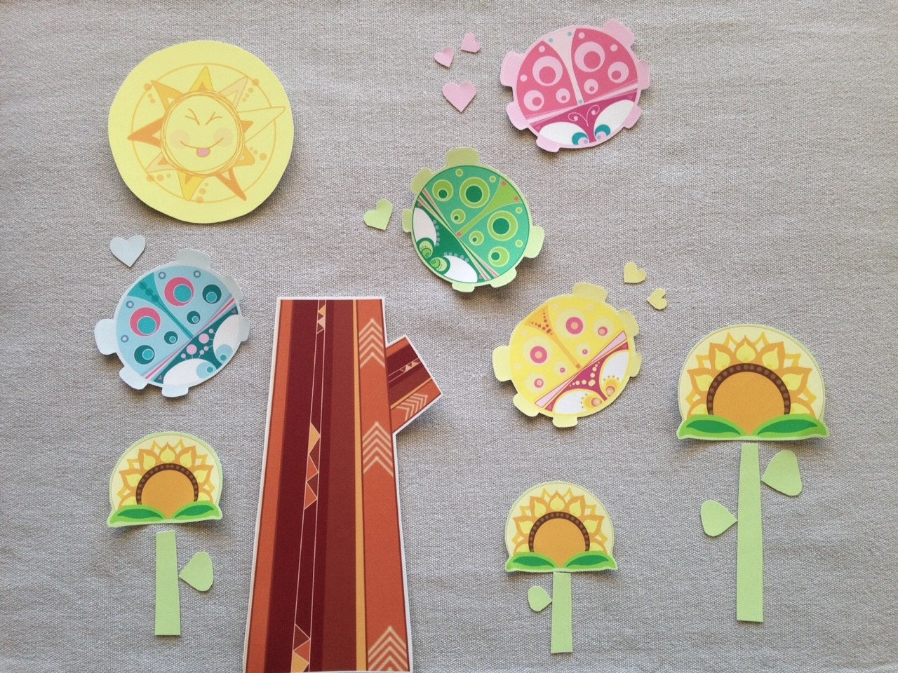 Craft Kit For Kids Make Your Own Yellow Ladybug Sewing And - Make your own decal kit