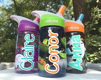 Kids Camelbak, IGUANAS Camelbak, Water Bottle, Daycare, Personalized Sippy cup, Childs cup with name, Ring Bearer gift, Flower Girl gift