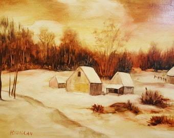Landscape Painting on Canvas Signed by Artist