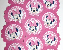 Minnie Mouse Cupcake Toppers/party picks Item #698 Birthday/Baby Shower Free Shipping