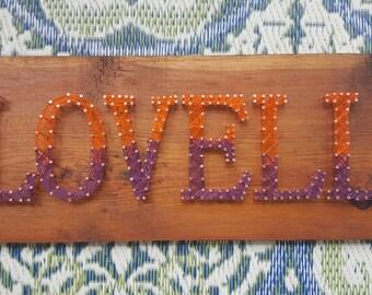 Custom Name String Art// custom sign// wedding gift//string art//home decor