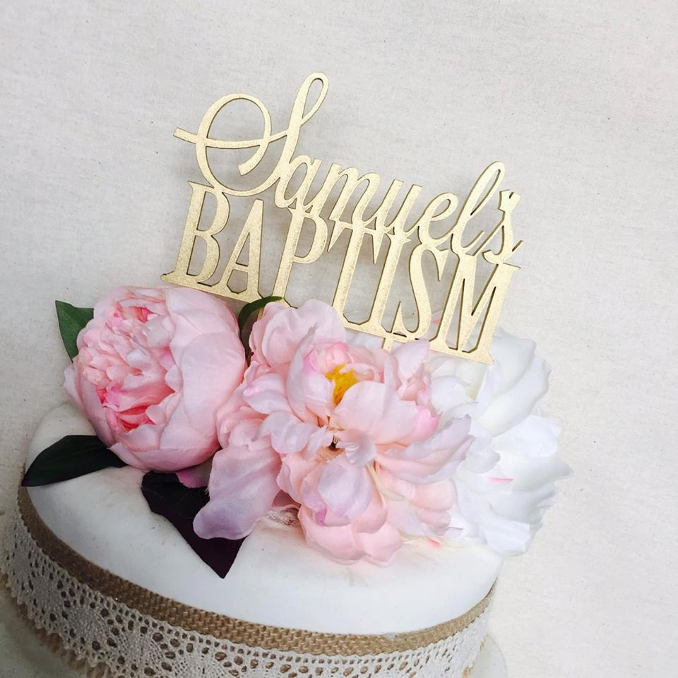 Cake Decorating Christening Personalised : Baptism Cake Topper Cake Topper Personalised Cake Toppers ...