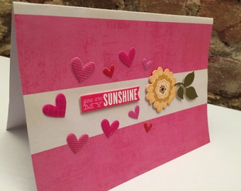 Valentine's Day // You Are My Sunshine Card