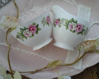Colclough sugar bowl~colclough milk jug~colclough enchantment~colclough china~vintage sugar bowl~vintage milk jug~colclough cream jug~china