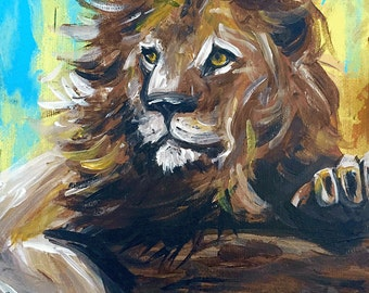 Lion - Original Acrylic Painting