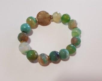 Faceted Amazonite Bracelet