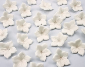 Flower cupcake toppers x24