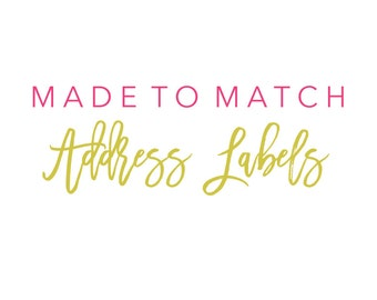 Made to Match Address Labels Order Add On