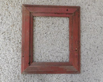 8x10 Distressed Red Barnwood frame (#5313)