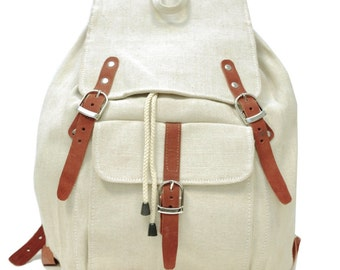 Snow White Backpack | Leather & Jute