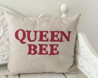 Queen Bee Handmade Applique Cushion