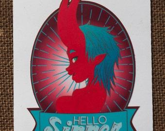 Hello Sinner Vinyl Sticker