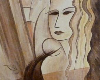 """Modern Signed Original Painting """"Blondie"""""""
