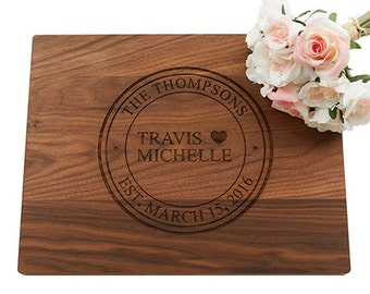 Wedding Gift, Cutting Board, Personalized Cutting Board, Heart Cutting Board, Housewarming Gift, Wedding Gift, Anniversary Gift