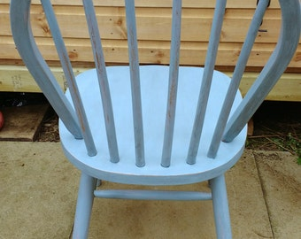 Shabby chic Windsor style chair