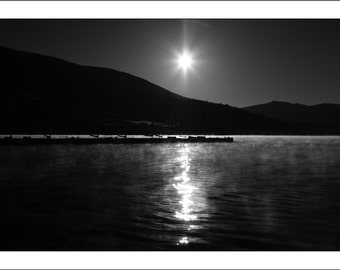 Sunrise Over Lake Dillon, Handmade Blank Greeting Card, Fine Art Photography Card