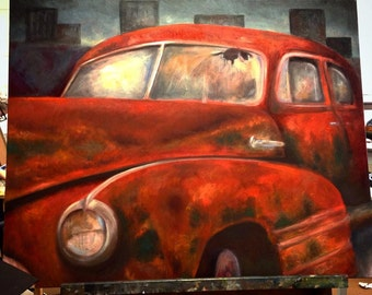 Antique Car Oil painting