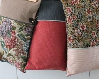 3 cushion covers / duplex / Shabby Chic / 50x30cm / ticking French publisher /Cadeau /Tissu s / COUS150108