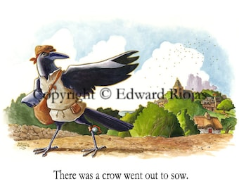 "There was a Crow (horizontal) 16"" x 20"" Giclee Print"