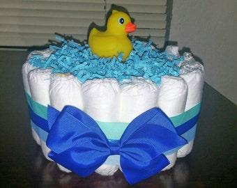 Rubber Duck Diaper Cake, 1 Tier