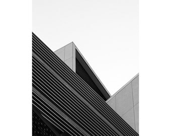 The Corner - Fine Art Photography, Black and White Print, Architecture, Abstract, Triangle, 16x20, Custom Sizes