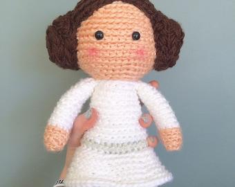 Made to order Princess Leia crochet doll