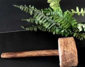 Hammer, Wooden Mallet, Vintage Hammer, Authentic Vintage Mallet