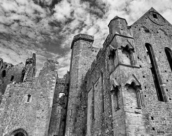 Black and white photos of the Rock of Cashel, Ireland Photography,