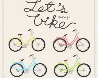 Bicycle clip arts / Bike / Cycling
