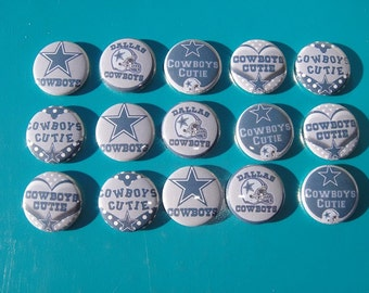 Dallas Cowboys Buttons Set of 15