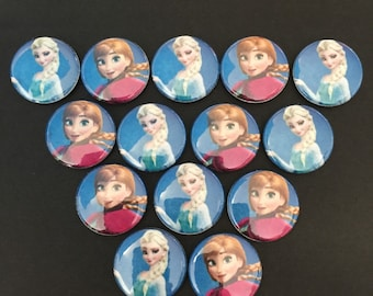 Frozen girls Buttons Set of 15