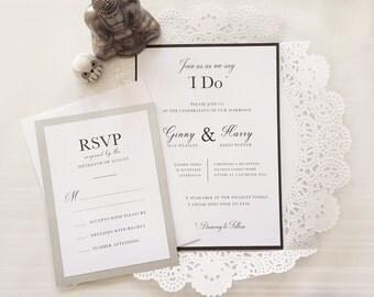 Custom Handmade Wedding Invitation - The Ginny & Harry (Sample)