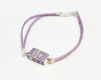 Little Women mini book bracelet