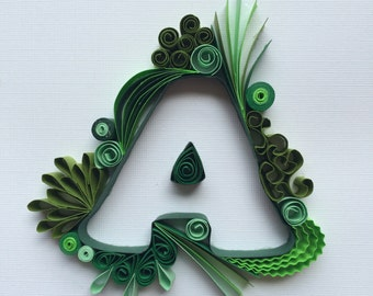 Quilled Monogram 'A'