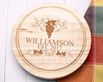 Grapes Design Personalized 5pc. Cheese Board Set (PPDC3)