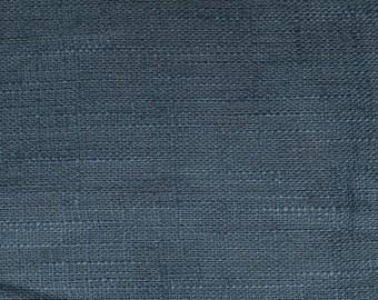 Linen natural - color: duffblau - 100% natural fiber - 0.5 m
