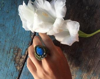 Magic Labradorite Ring