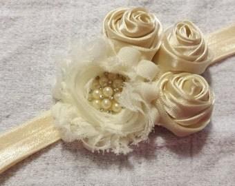 Baby Headband, Ivory